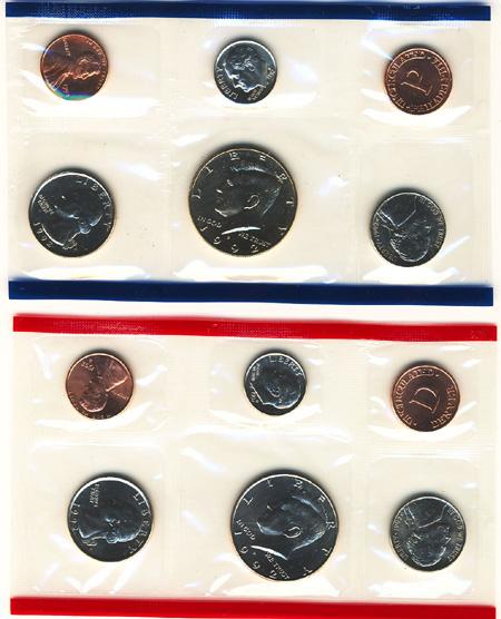 1992 Uncirculated Mint Set