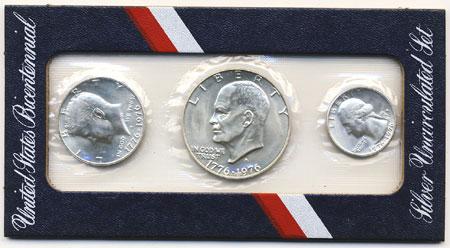 1976 Silver 3 Piece Mint Set Us Mint Uncirculated Coin Sets