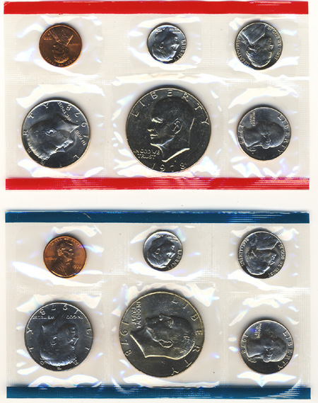 1 1978-1981 Set Random Year - US Mint Uncirculated Set Complete P /& D One