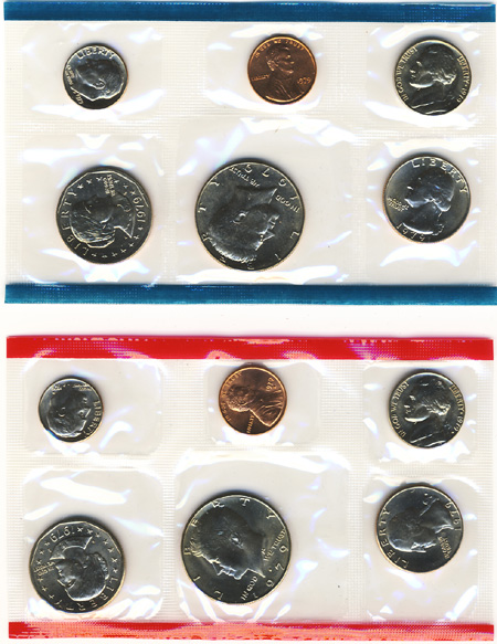 1979-P /& D United States Mint Uncirculated Coin Set w// Envelope