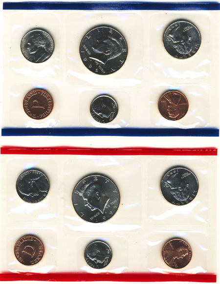 1995 Uncirculated Coin Mint Set Philadelphia and Denver Pictures and Bios