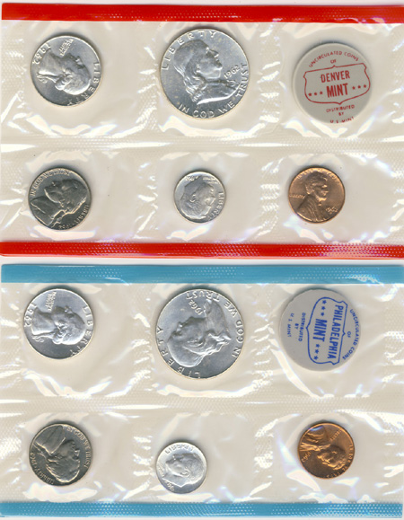 1962 Mint Set | US Mint Uncirculated Coin Sets