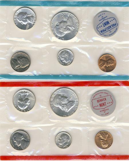 1960 P D Silver US Mint Set Comes in Original US mint packaging US Mint